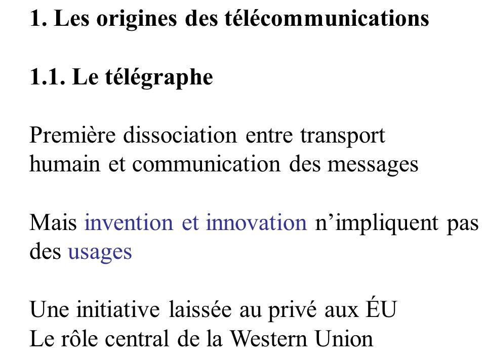 1. Les origines des télécommunications 1.1.