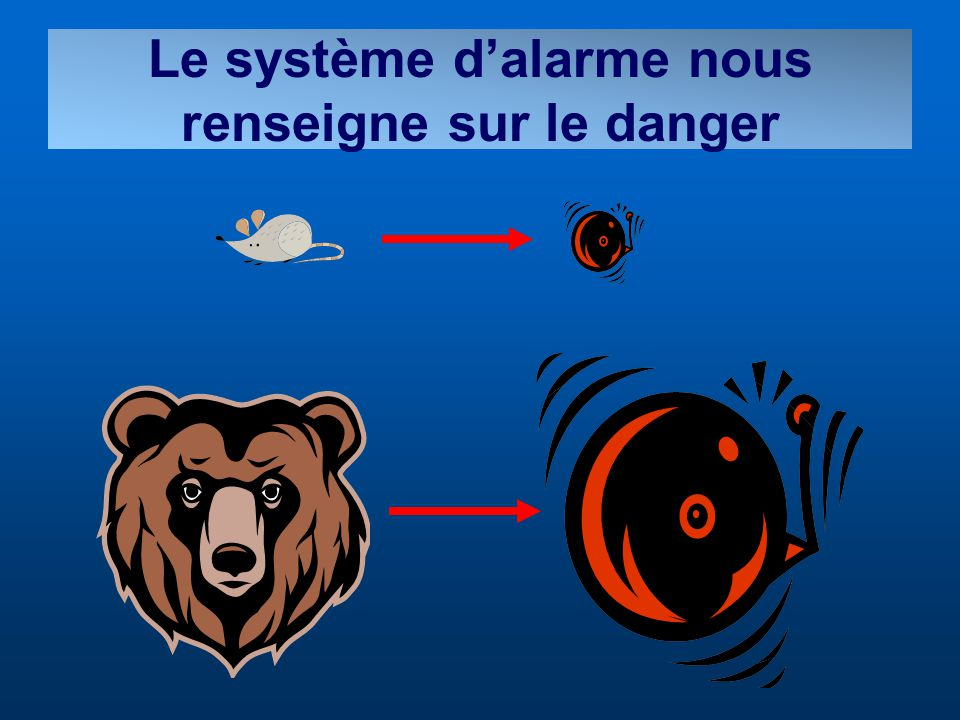 Le système dalarme nous renseigne sur le danger