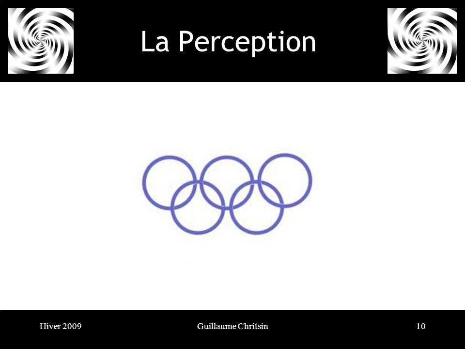 Hiver 2009Guillaume Chritsin10 La Perception Le principe de la bonne forme