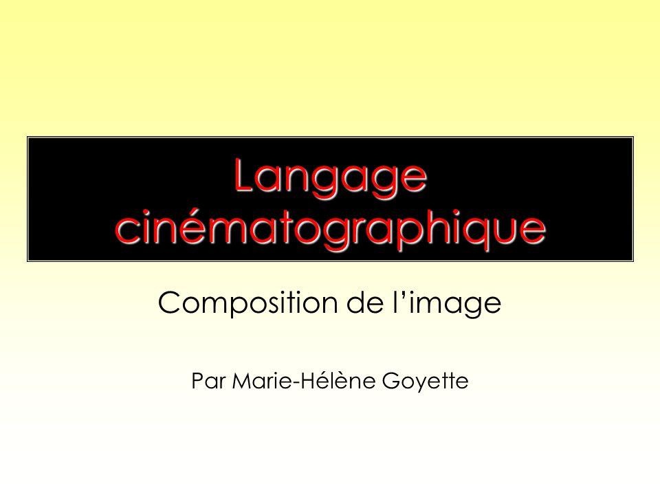 Langage cinématographique Composition de limage Par Marie-Hélène Goyette