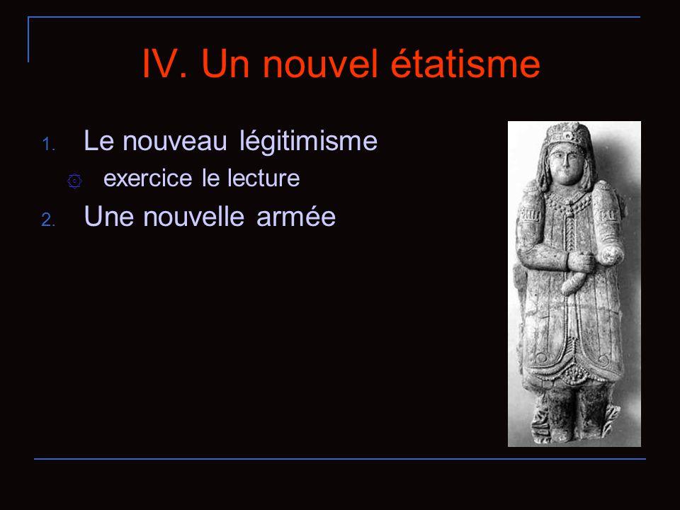 IV. Un nouvel étatisme 1. Le nouveau légitimisme ۞ exercice le lecture 2. Une nouvelle armée