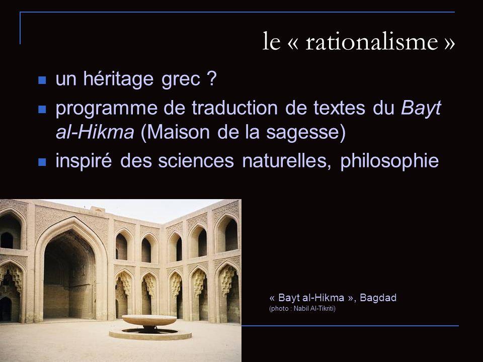 le « rationalisme » un héritage grec .