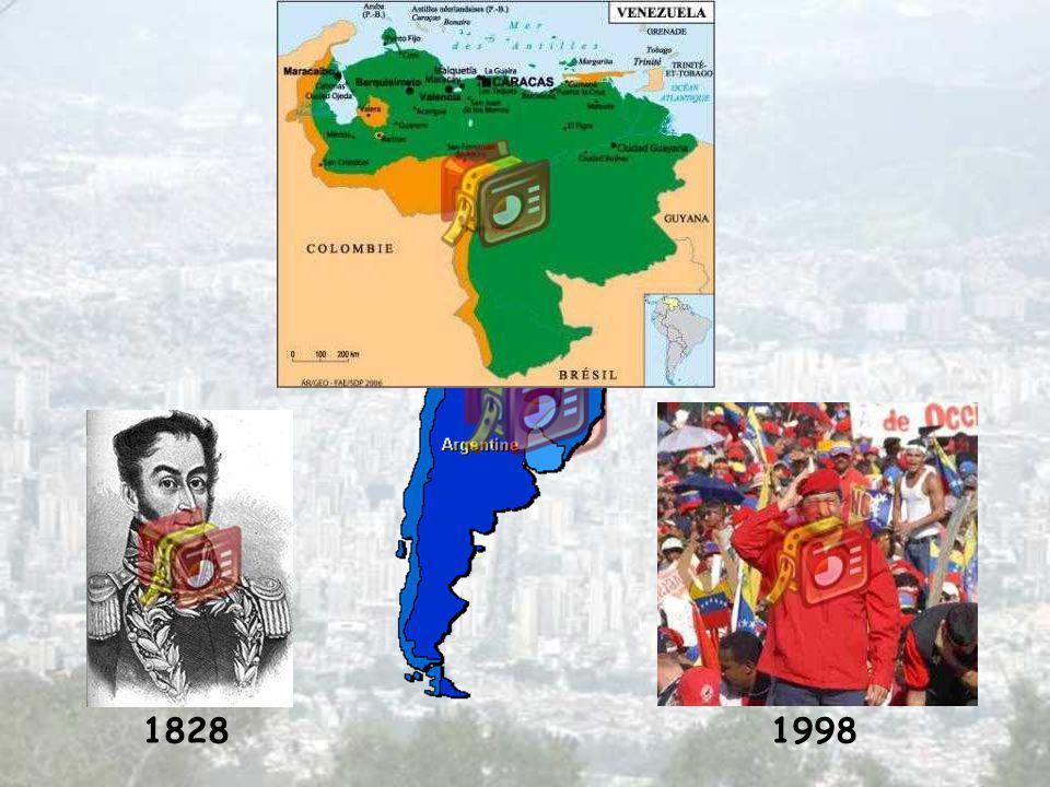 Pays du nord de lAmérique du Sud Superficie 912 050 Km 2 (2 fois la France) Population 26,3 millions dhabitants (1/2 fois la France) Venezuela en bref
