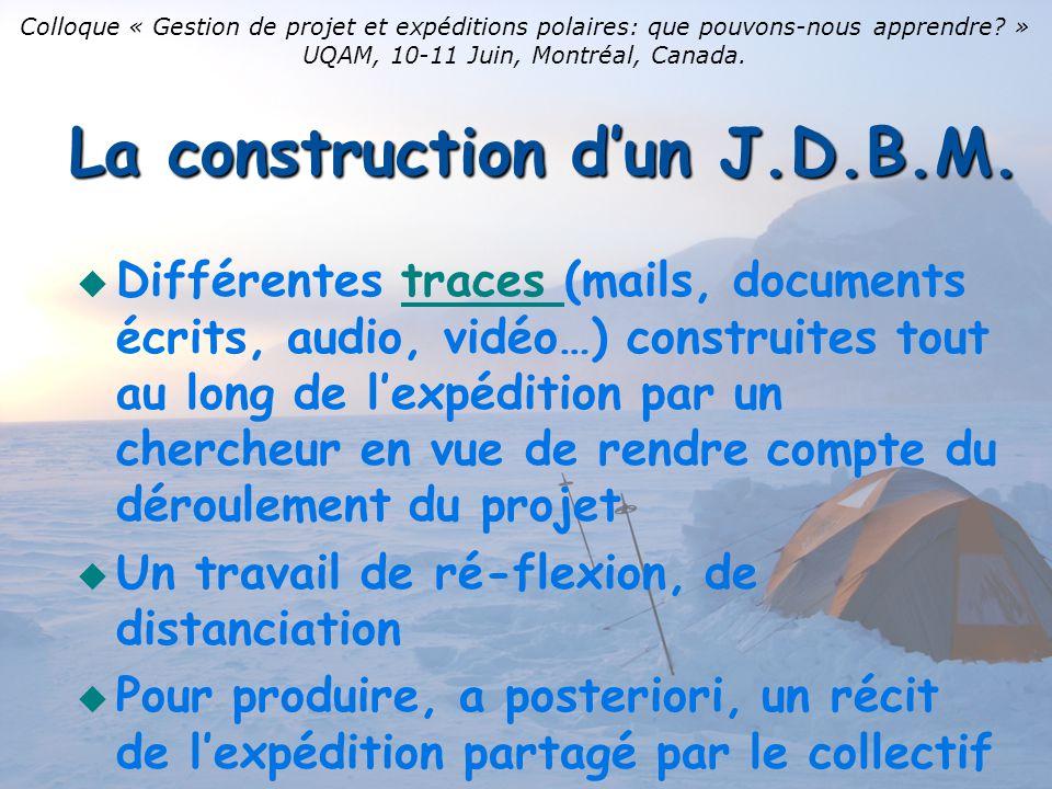 La construction dun J.D.B.M.