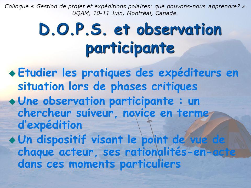 Modalités de mise en œuvre du D.O.P.S.