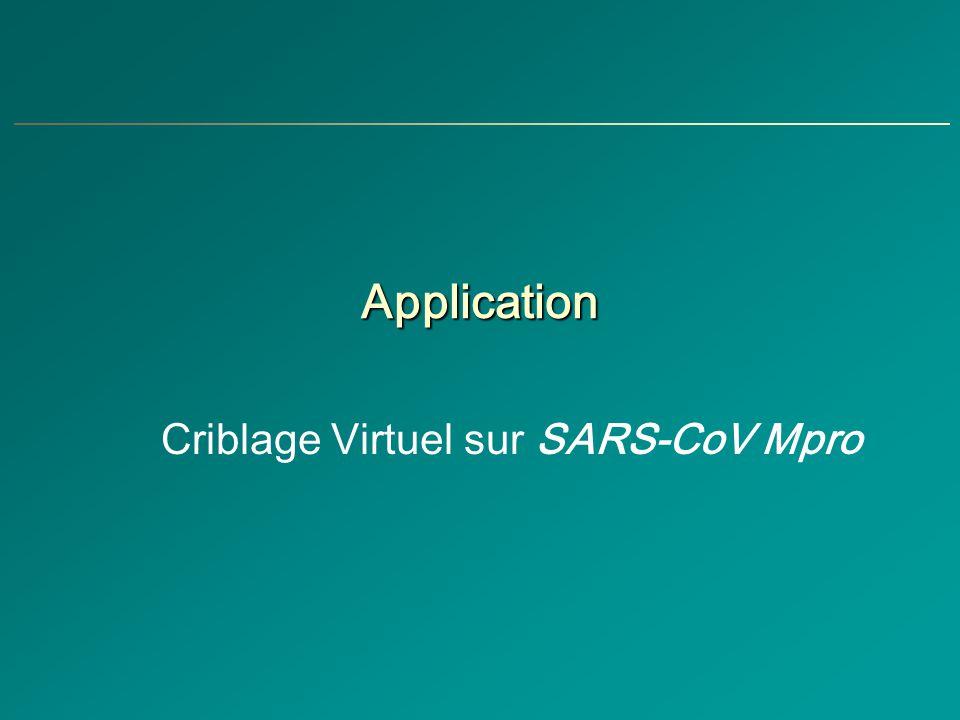 Application Criblage Virtuel sur SARS-CoV Mpro