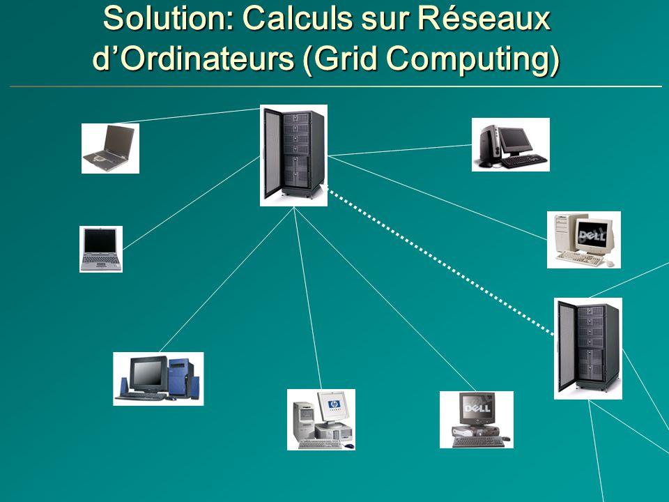 Solution: Calculs sur Réseaux dOrdinateurs (Grid Computing)