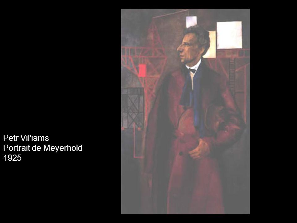 Petr Vil'iams Portrait de Meyerhold 1925