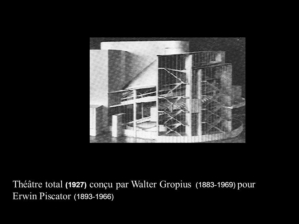 Théâtre total (1927) conçu par Walter Gropius (1883-1969) ) pour Erwin Piscator (1893-1966)