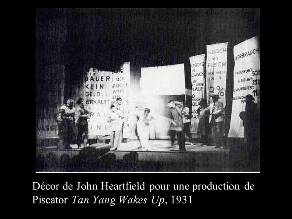 Décor de John Heartfield pour une production de Piscator Tan Yang Wakes Up, 1931