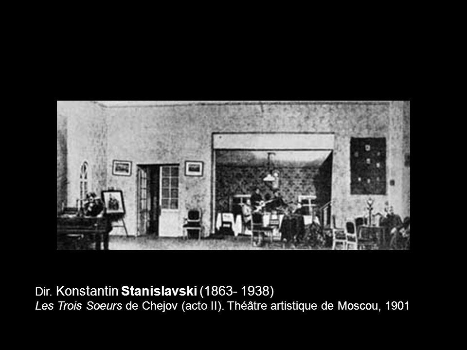 Dir. Konstantin Stanislavski (1863- 1938) Les Trois Soeurs de Chejov (acto II). Théâtre artistique de Moscou, 1901