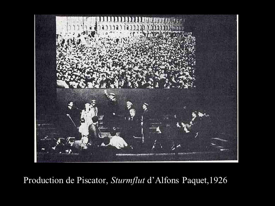 Production de Piscator, Sturmflut dAlfons Paquet,1926