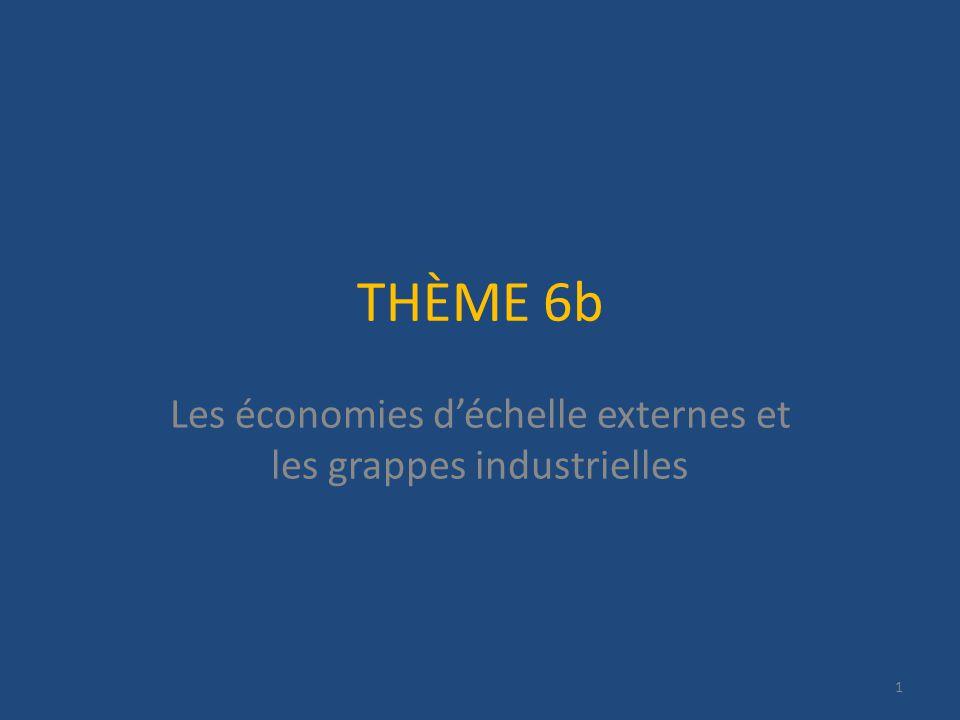 THÈME 6b Les économies déchelle externes et les grappes industrielles 1
