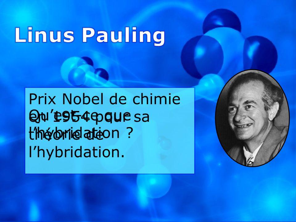 Prix Nobel de chimie en 1954 pour sa théorie de lhybridation. Quest-ce que lhybridation ?