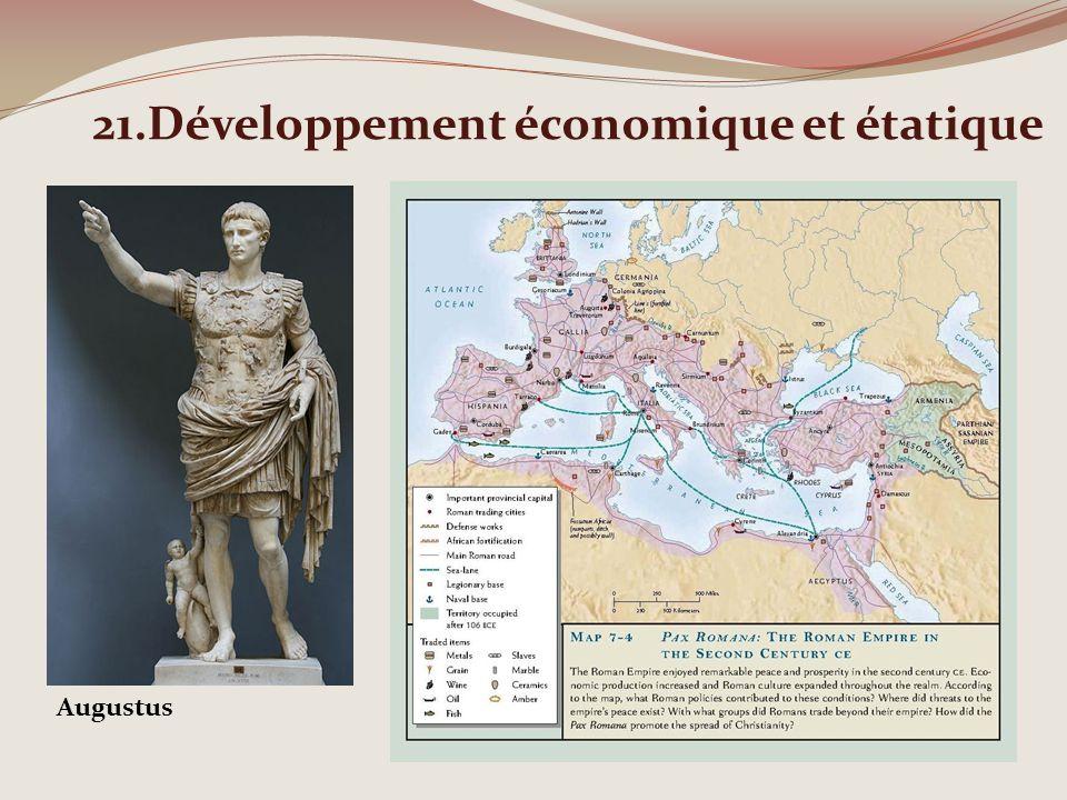21.Développement économique et étatique Augustus
