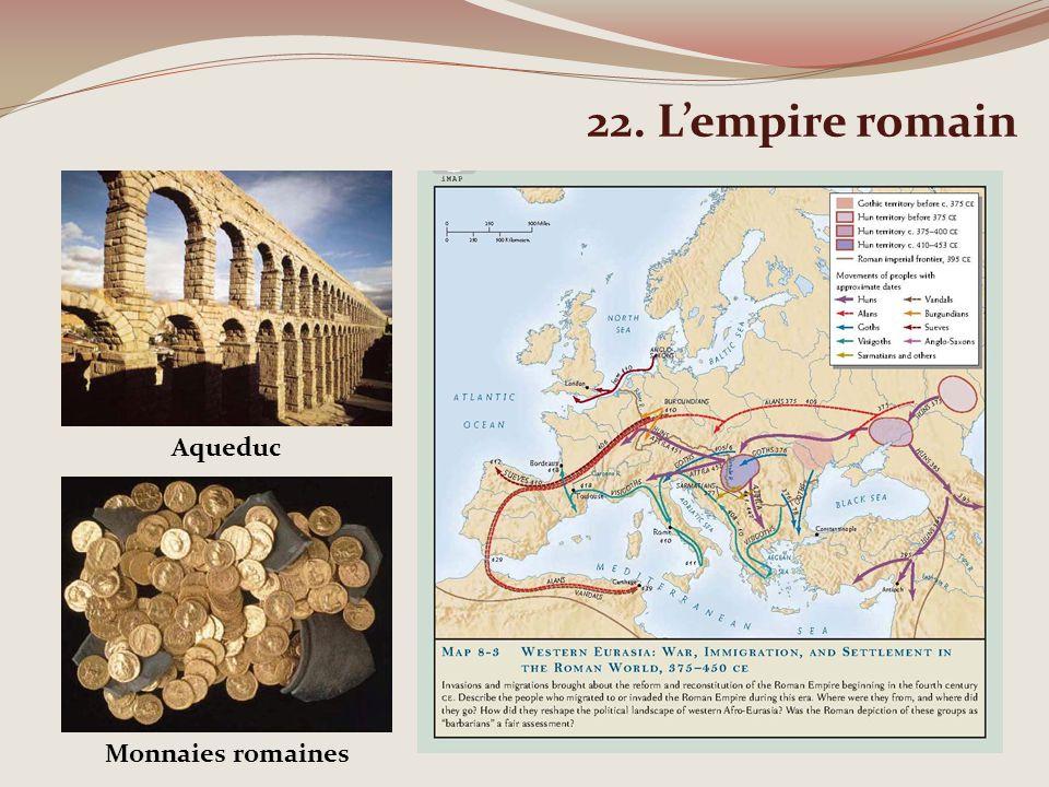 22. Lempire romain Aqueduc Monnaies romaines