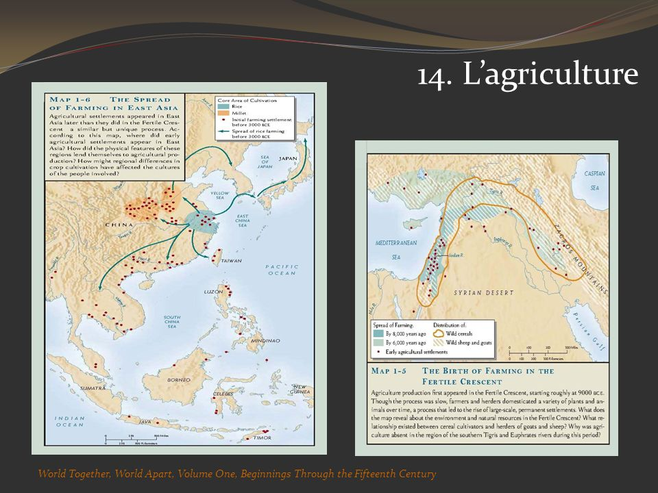 14. Lagriculture World Together, World Apart, Volume One, Beginnings Through the Fifteenth Century