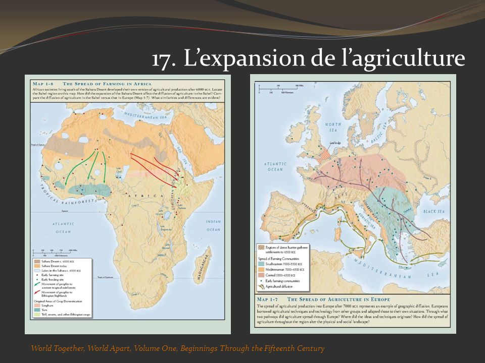 17. Lexpansion de lagriculture World Together, World Apart, Volume One, Beginnings Through the Fifteenth Century