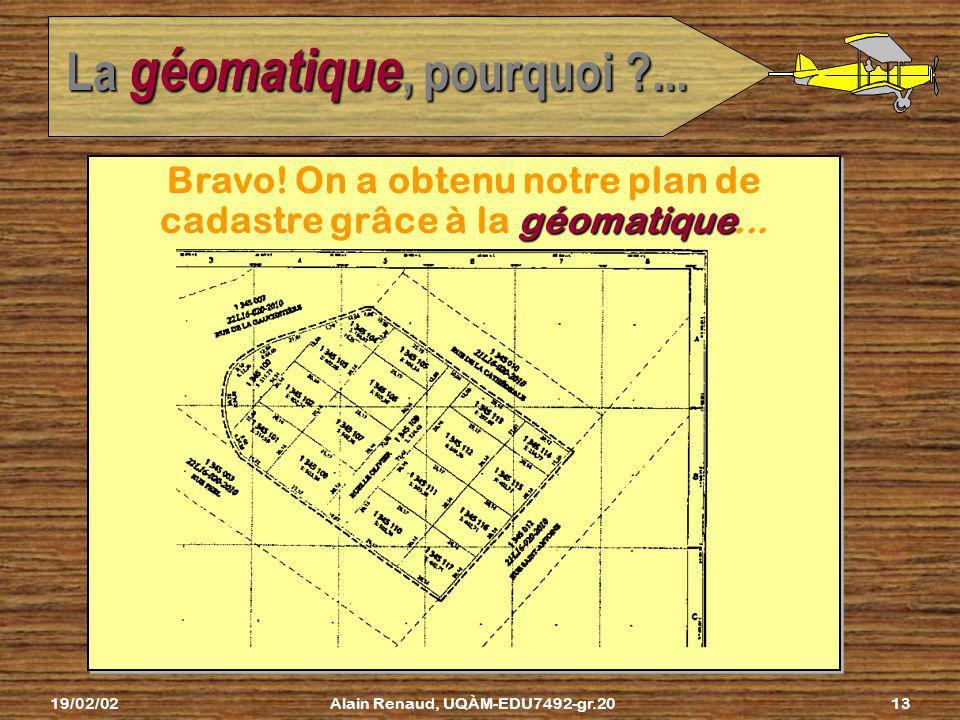 19/02/02Alain Renaud, UQÀM-EDU7492-gr.2012 La cartographie, cest quoi ?... Lart de produire des cartes en appliquant des procédures scien- appliquant