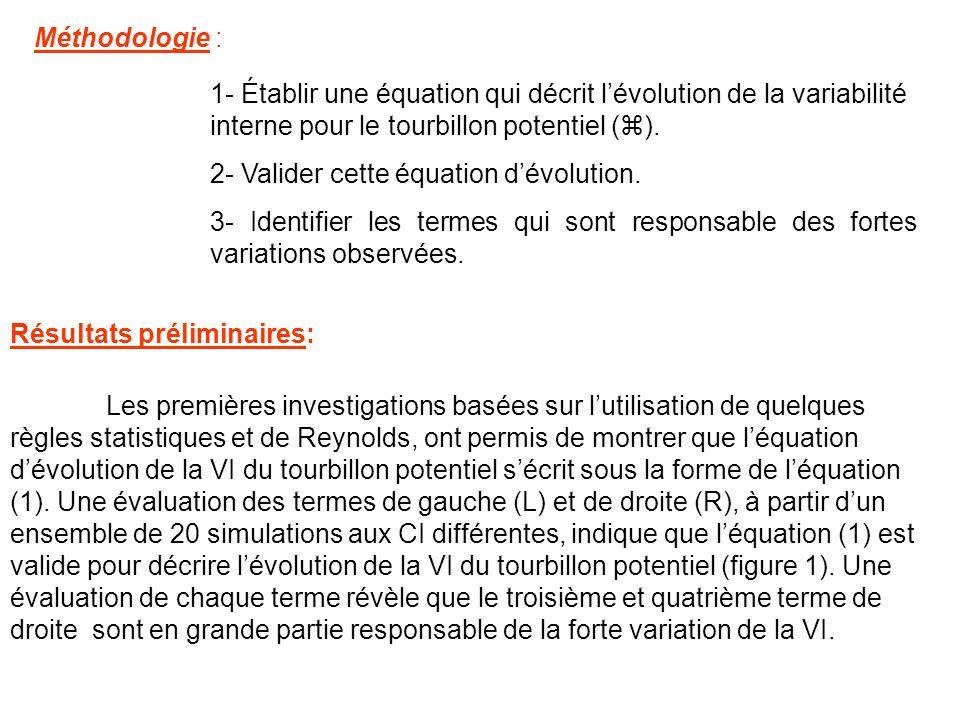 1- Établir une équation qui décrit lévolution de la variabilité interne pour le tourbillon potentiel ( ).