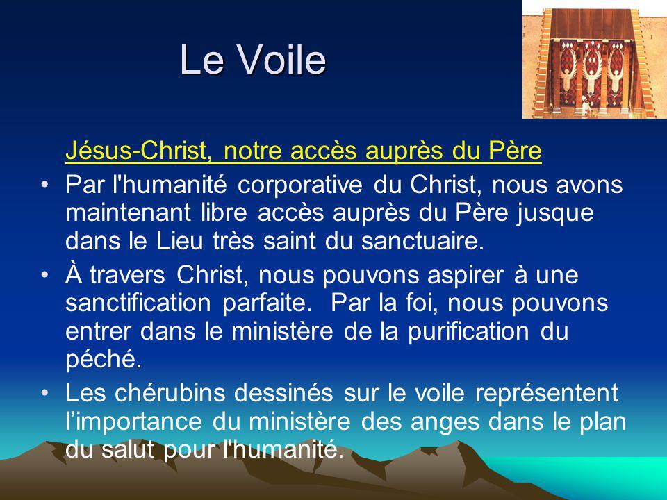 Jésus-Christ, notre accès auprès du Père Par l humanité corporative du Christ, nous avons maintenant libre accès auprès du Père jusque dans le Lieu très saint du sanctuaire.