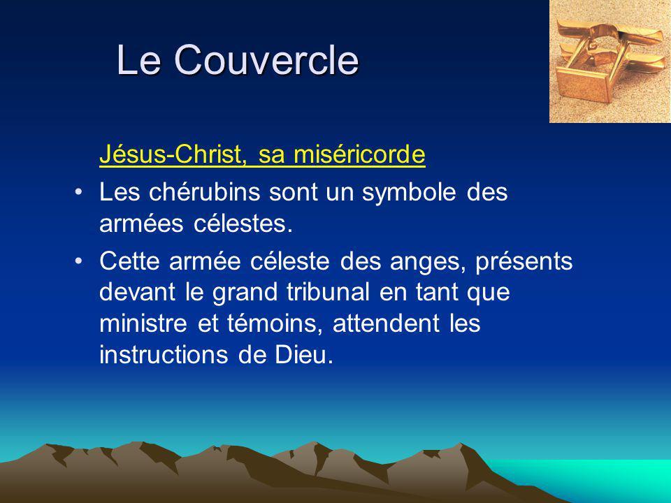 Le Couvercle Jésus-Christ, sa miséricorde Les chérubins sont un symbole des armées célestes.