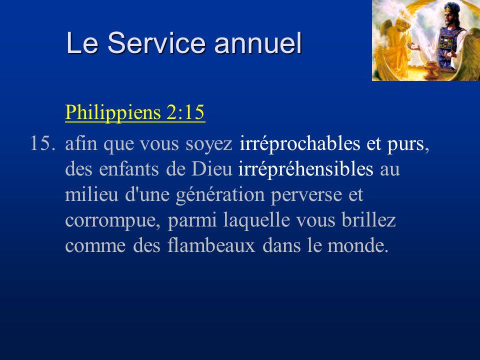 Le Service annuel Philippiens 2:15 15.afin que vous soyez irréprochables et purs, des enfants de Dieu irrépréhensibles au milieu d'une génération perv