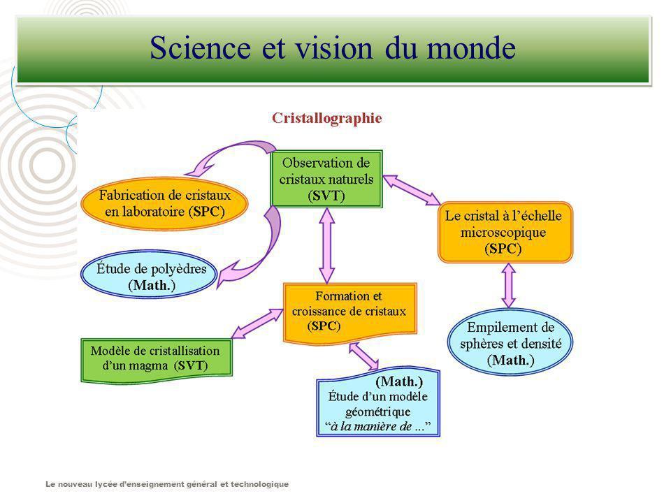 Le nouveau lycée denseignement général et technologique Science et vision du monde