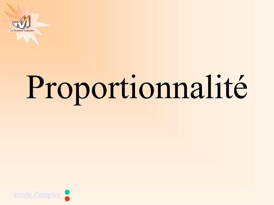 La Géométrie Autrement Proportionnalité mode d'emploi