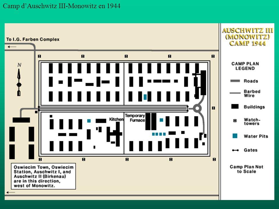 Camp dAuschwitz III-Monowitz en 1944