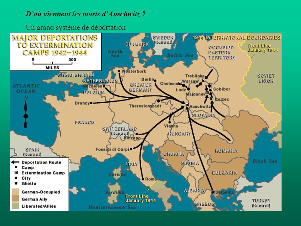 Doù viennent les morts dAuschwitz ? Un grand système de déportation