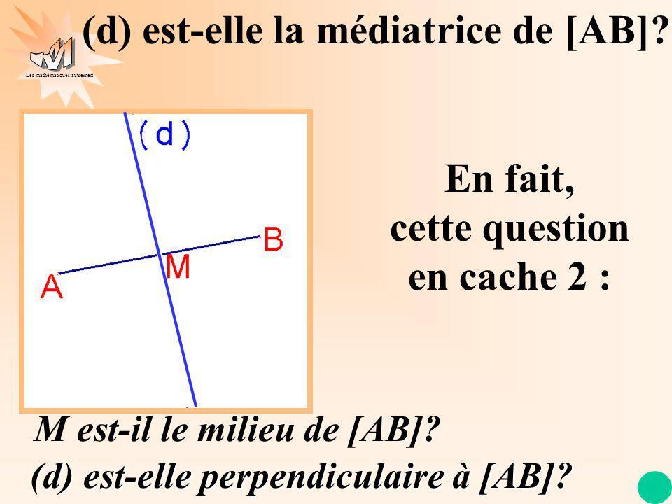 Les mathématiques autrement (d) est-elle la médiatrice de [AB].