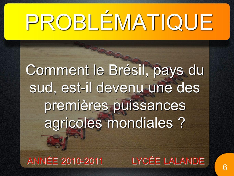 II / LES EXCES DE LAGRICULTURE PRODUCTIVISTE BRÉSILIENNE. 17 LYCÉE LALANDE ANNÉE 2010-2011