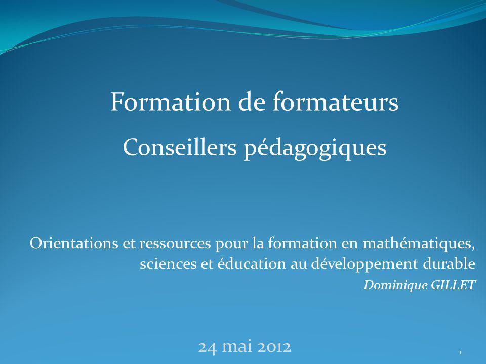 Le groupe départemental et ses actions en mathématiques, sciences et EDD Propose et met en œuvre des actions de formation en direction des formateurs et des enseignants.