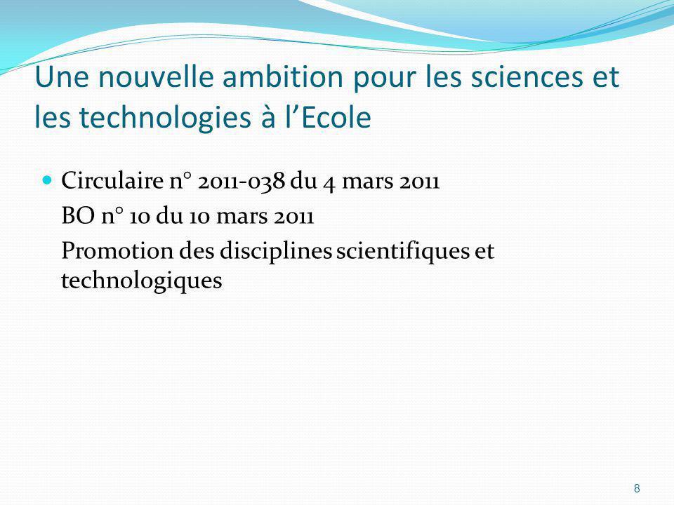 Une nouvelle ambition pour les sciences et les technologies à lEcole Quelle ambition .