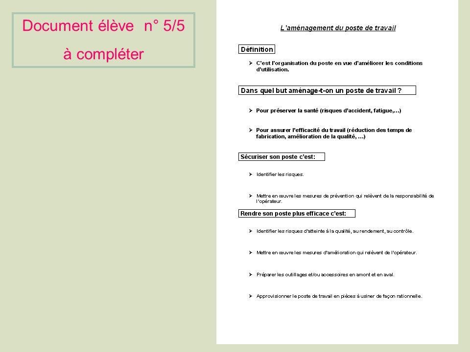 Document élève n°5/5 à compléter