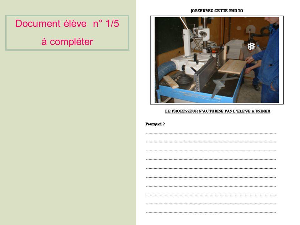 Document élève n°1/5 à compléter