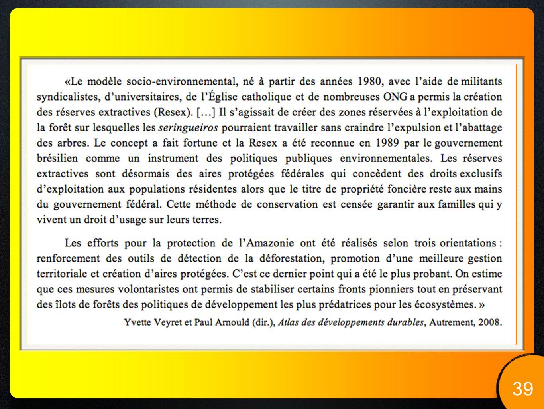 MISE EN PERSPECTIVE.40 LYCÉE LALANDE ANNÉE 2010-2011 Vers une agriculture durable .