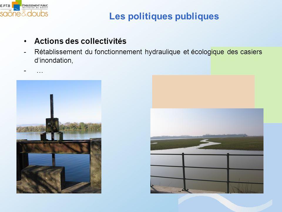 Actions des collectivités -Rétablissement du fonctionnement hydraulique et écologique des casiers dinondation, - … Les politiques publiques