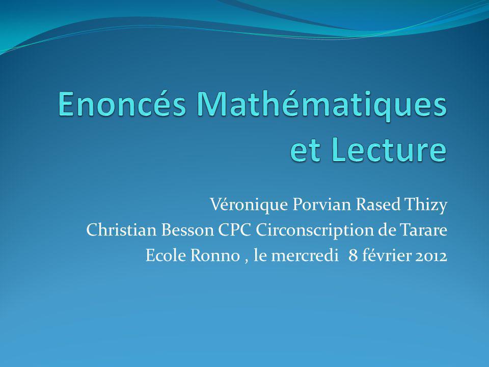 Véronique Porvian Rased Thizy Christian Besson CPC Circonscription de Tarare Ecole Ronno, le mercredi 8 février 2012