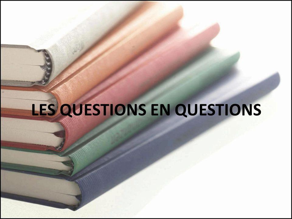 LES QUESTIONS EN QUESTIONS