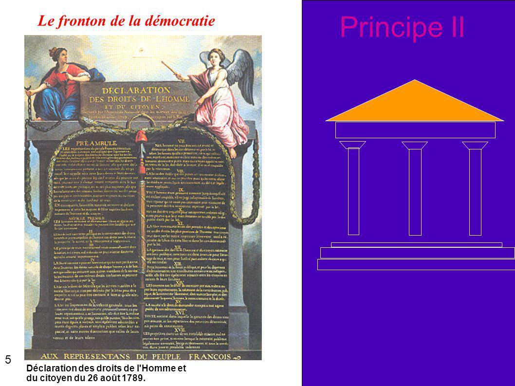 Principe II Déclaration des droits de l'Homme et du citoyen du 26 août 1789. Le fronton de la démocratie 5