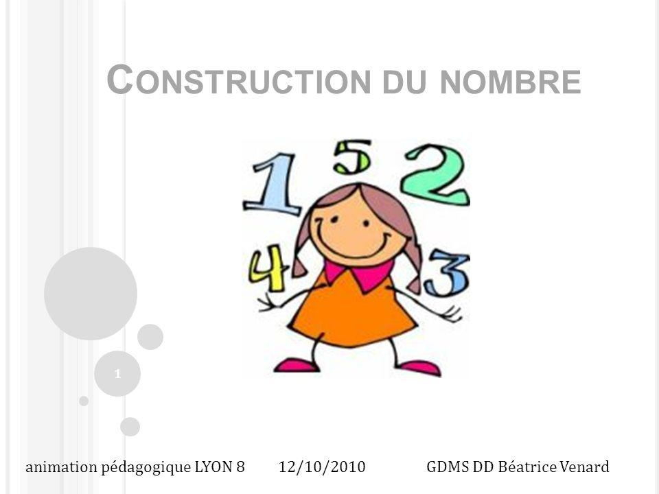 C OMMENT P OURSUIVRE LA CONSTRUCTION DU NOMBRE EN MS – GS .