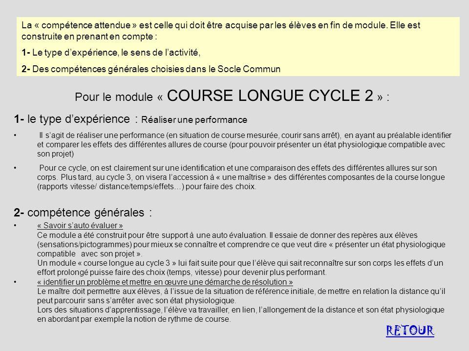 La « compétence attendue » est celle qui doit être acquise par les élèves en fin de module. Elle est construite en prenant en compte : 1- Le type dexp