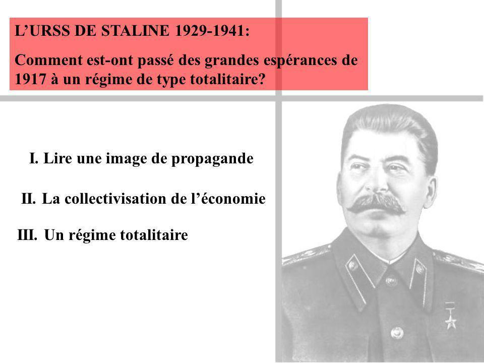 LURSS DE STALINE 1929-1941: Comment est-ont passé des grandes espérances de 1917 à un régime de type totalitaire.