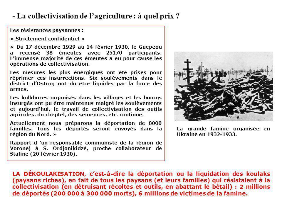 - La collectivisation de lagriculture : pourquoi ?