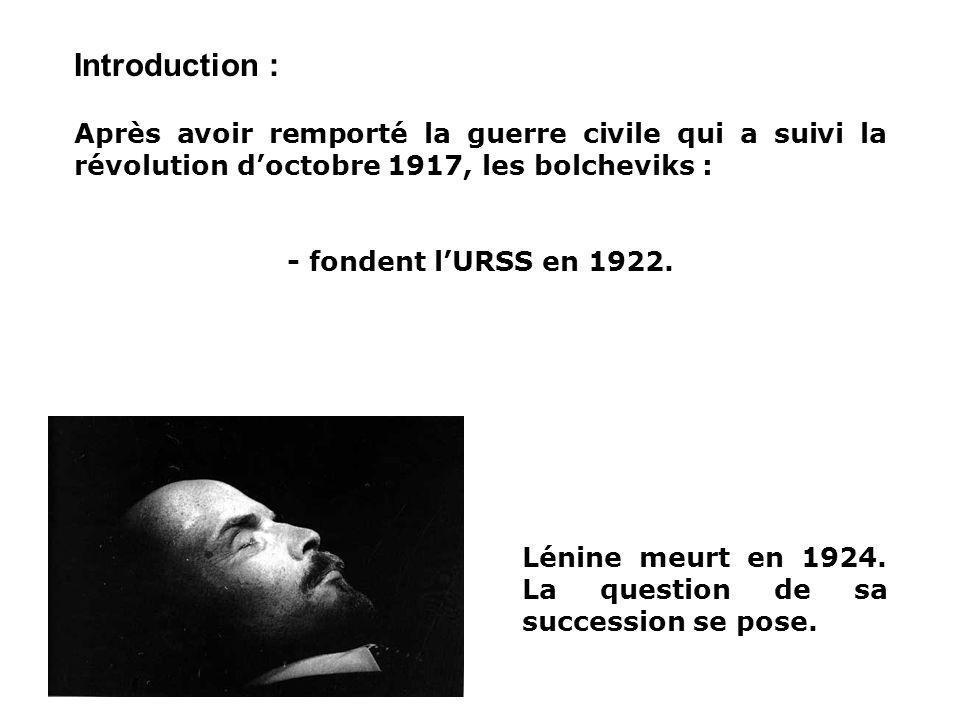 LURSS DE STALINE 1929-1941: Comment est-ont passé des grandes espérances de 1917 à un régime de type totalitaire? I. Lire une image de propagande II.
