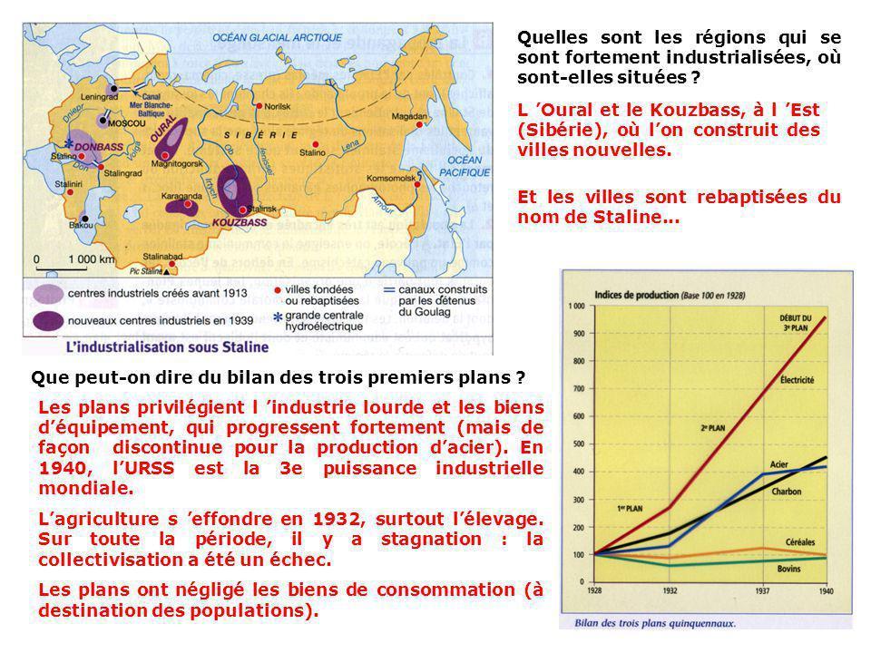 - Les plans quinquennaux et lindustrialisation : Le Plan quinquennal (de 5 ans) : « L usine de Noguinsk devait fournir une grande partie des cinquante