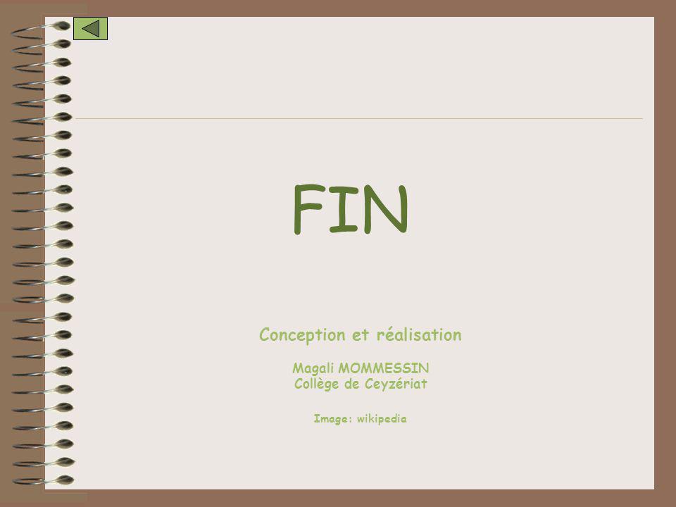 FIN Conception et réalisation Magali MOMMESSIN Collège de Ceyzériat Image: wikipedia