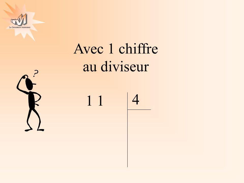La Géométrie Autrement Avec 1 chiffre au diviseur 1 4